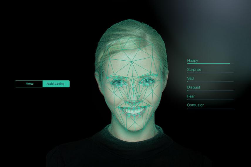 リアルアイズ社の表情測定の例
