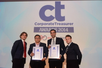 Best Technology Platform, Calvin Lee, LG Electronics and Raj Melvani, Market Development Manager, Thomson Reuters