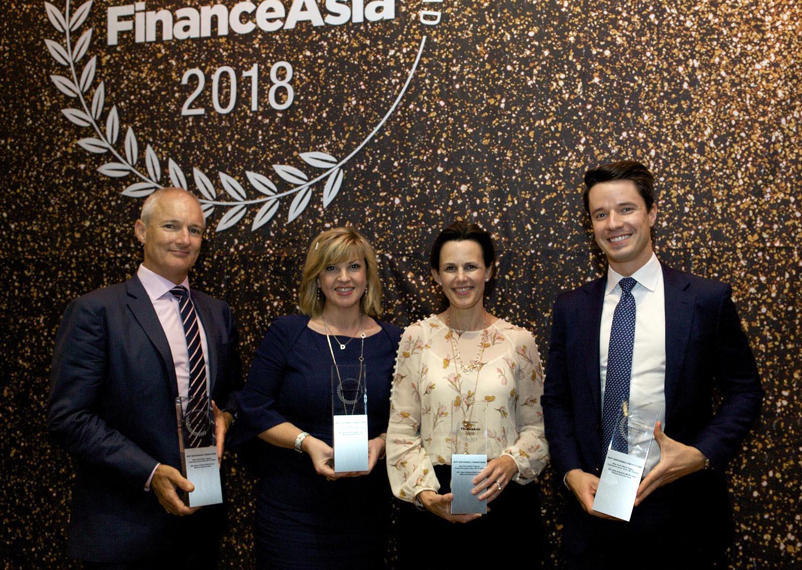 David Jenkins of National Australia Bank, Fiona Trigona of