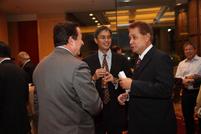 Ramon Arnaiz, ATR KimEng Financial; Gabriel Besa, ATR KimEng Capital Partners; Felix Antonio Andal, Maybank Philippines