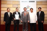 Manuel Tordesillas, ATR KimEng Capital Partners; Gil Buenaventura, BPI; Ramon Arnaiz, ATR KimEng Financial; Carlos Aquino; Lorenzo Roxas, ATR KimEng Securities