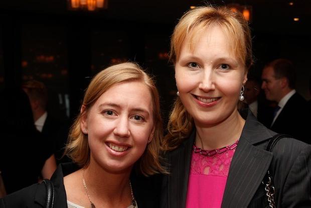 Barclays' executives Alana McPhee and Sylvia Preda
