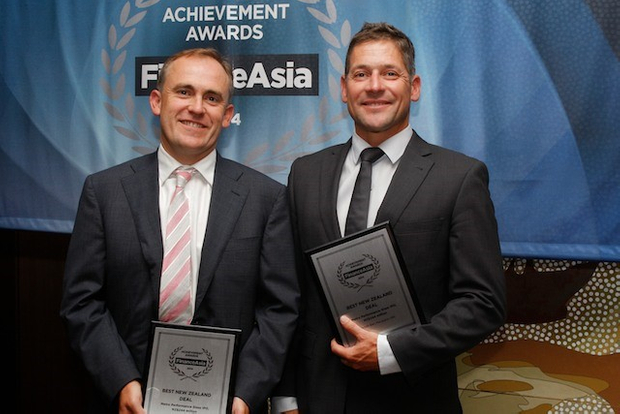 The Best New Zealand Deal award goes to Macquarie's Angus Firth and UBS's Chris Simcock for the Metro Performance Glass IPO