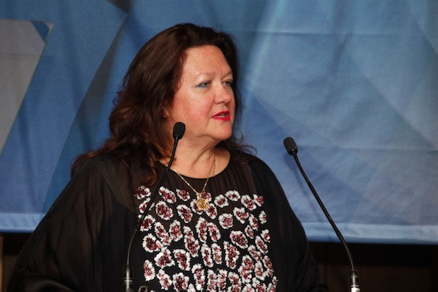 Rinehart delivers an acceptance speech to a very attentive audience