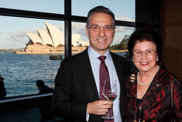 Spiro Pappas from National Australia Bank with Imelda Roche