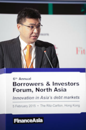 Enoch Fung, Hong Kong Monetary Authority, delivering the keynote speech