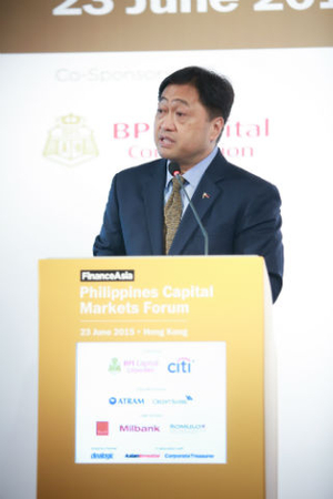 Cesar Purisima, secretary of finance, Government of the Philippines, opens the Philippines Capital Markets Forum