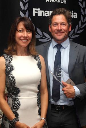 Chris Simcock accepting Best Investment Bank, New Zealand