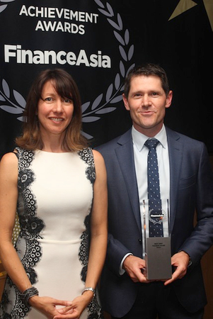 Westpac's Neville Grace accepts Best Debt Finance House