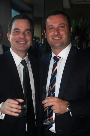 Tom Mazzaferro from NAB (right) and friend
