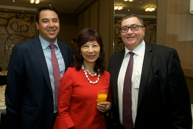 Helen Yap from DBS with Alan Ting and Steve Lambert from NAB
