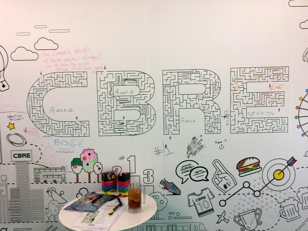 CBRE's wall game