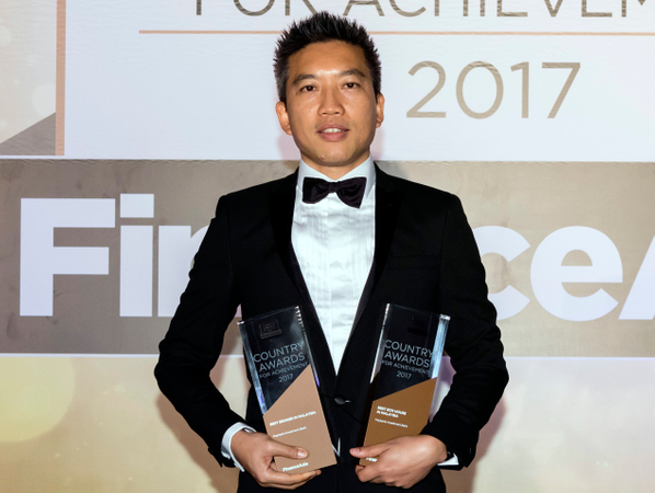 Vincent Cheng from Maybank Investment Bank collects the awards for the Best Broker in Malaysia and Best ECM House in Malaysia
