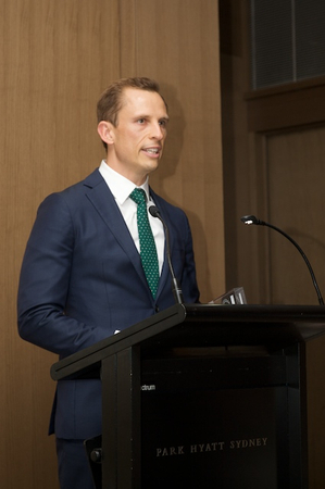 Richard Sleijpen from UBS accepts the Best Investment Bank in Australia award