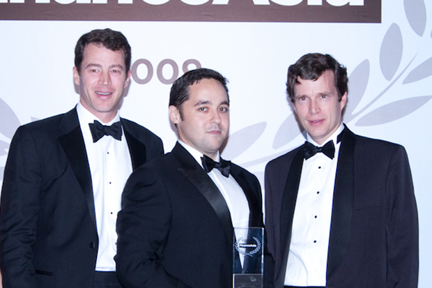 Morgan Stanley's Justin Haik, Damien Brosnan and Crawford Jamieson accepted the award for Best Equity House