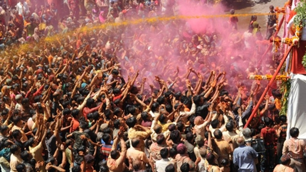 Indians celebrate the Holi festival of colours earlier this month to mark the coming of spring.