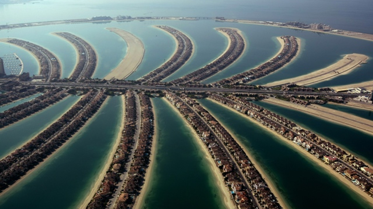 Nakheel's Palm Jumeirah island off the coast of Dubai