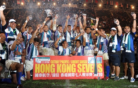 Who had the best box at the Hong Kong Sevens 2010?