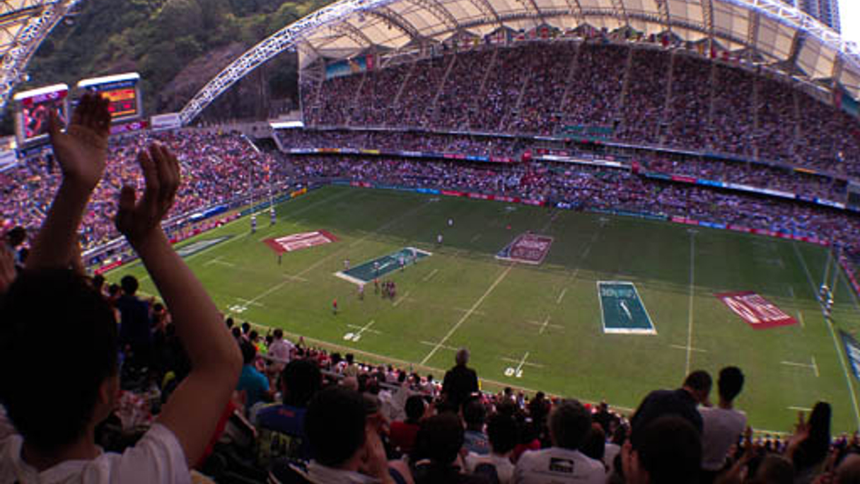 "<div style=""text-align: left;""> Hong Kong Stadium: Some people watched the rugby </div>"