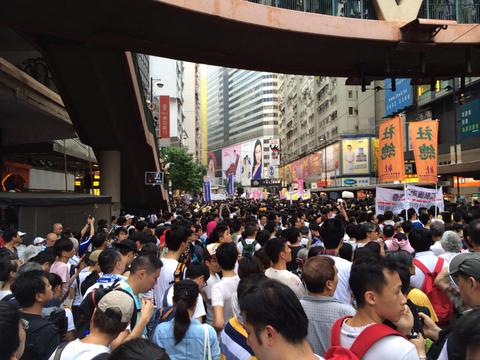 HSBC downgrades Hong Kong on China tensions